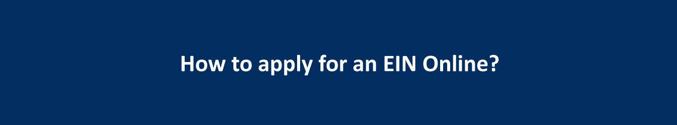 how to apply for an ein online