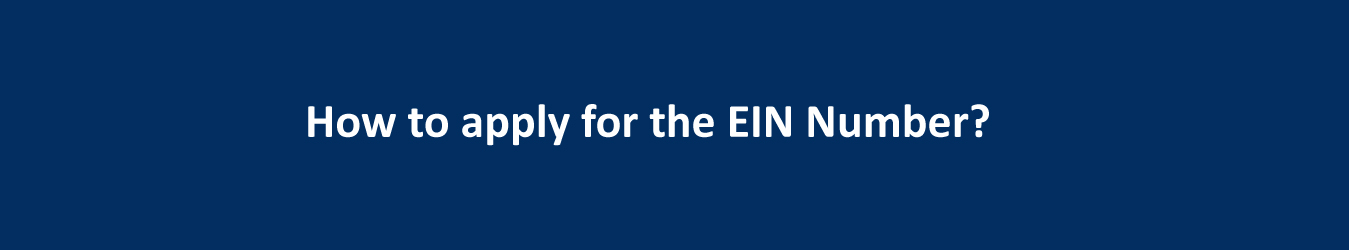how to apply for an ein number