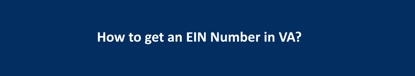how to get an EIN number in VA